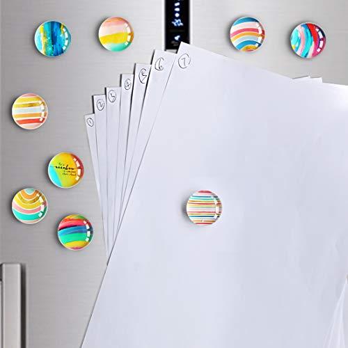 12pcs Magneti Frigo, Magneti Frigo Creativi Decorazioni per La Casa Carine Adesivi Magnetici Set di Magneti per Ufficio per Lavagna Cancellabile A Secco, Armadi, Lavagne Bianche, Foto