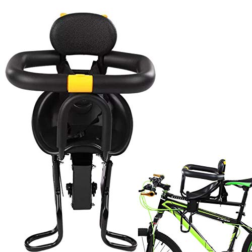 Adult Bike Attachment Adjustable-Bicycle Baby Kids Child Front Mount Seat with Pedals Backrest Support Peadals for 8 months to 6 years Children/Toddlers