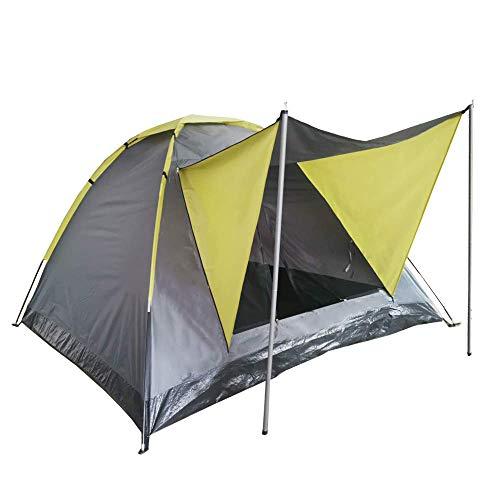 Style home koepeltent campingtent 2 personen festivaltent met luifel iglutent 1500 mm waterkolom incl. draagtas (200x180x120cm)