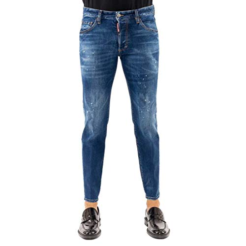 DSquared Pantalone 5 tasche UOMO - 52, BLU