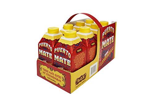 Puerto Mate® Zitronengras 500 ml, cold-brew Mate-Eistee mit Koffein (Tetra-Pak, 8 x 500 ml)