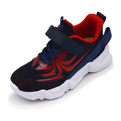 TISGOTAN Boy-Shoes,Kids-Spider-Shoe,Boy-Sneakers,Tennis-Shoes,Child-Running-Sports-Shoes,Athletic-Shoes,Walking-Shoes,Zapatos-para-niños ZD033 Navy 13.5 Little Kid