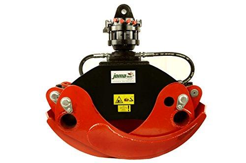 Forst- Holzgreifer OG24 von Joma-Tech mit Formiko-Rotator FHR 4.500L 4,5t.