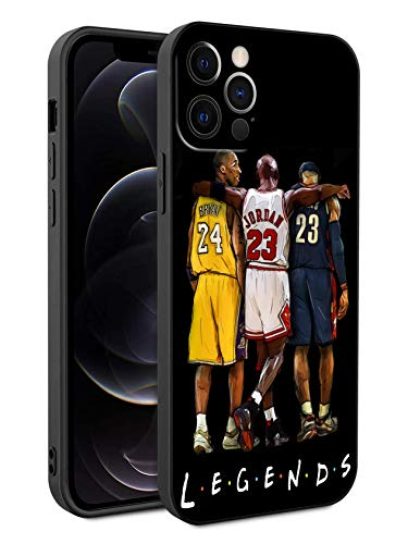 Basketball Fans Phone Case Compatible with iPhone 12 Pro Max 6.7 inch (Legends-Kobe-Jordan-Lebron)