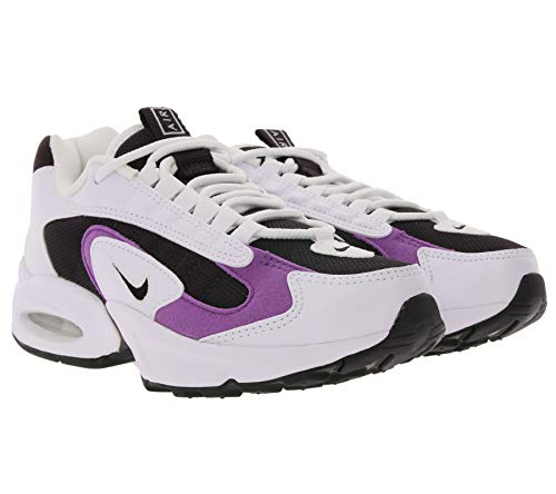 Nike Air Max Triax Low-Top Sneaker Klassische Damen Street-Schuhe 90s Sneaker Sport-Schuhe Weiß/Lila, Größe:37 1/2