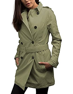 SCOTTeVEST Women's Trench Coat - Travel Clothing, Trench & Rain Coats for Women (TYM M) by