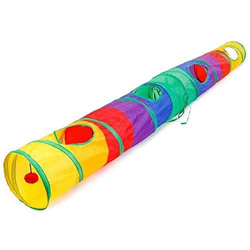 RMEX Pratico Tunnel per Gatti Tubo per Animali Domestici Giocattolo da Gioco Pieghevole Giocattoli per Cuccioli di Gattino all'aperto per Puzzle Esercizi per nascondersi Formazione e R, Colore