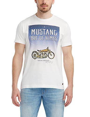 Mustang heren print-shirt met lange mouwen