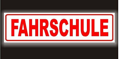 PACO Deutschland e.K. Reflektierendes Magnetschild - Fahrschule - 35x8cm für KFZ und sonstige Metalloberflächen - 35 x 8cm Magnetfolie reflektierend