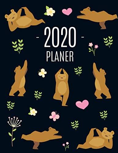 Yoga Bär Planer 2020: Wochenplaner 2020 | Monatsplaner 12 Monate Organizer | Einfacher Überblick über die Terminpläne | Agenda mit Raum für Notizen