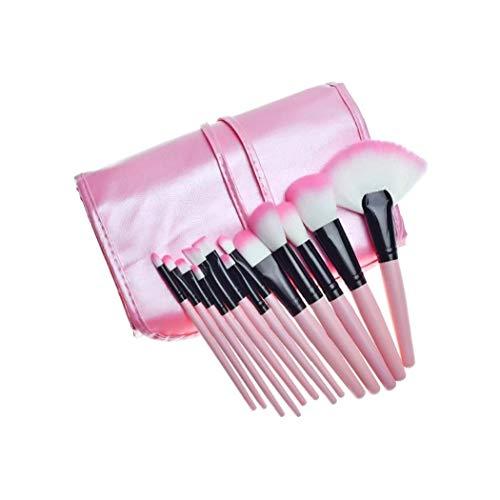 shentaotao 32PCS del Maquillaje del Sistema de cepillos cosméticos Profesionales Brocha Fundación Polvo de Sombra de Ojos Cepillo Kit compone la Herramienta con Organizador del Bolso (Rosa)