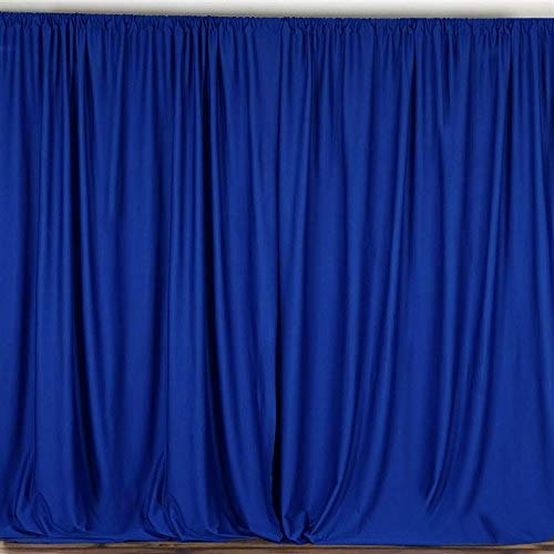 AK TRADING CO. 10 feet x 10 feet Polyester Backdrop Drapes Curtains Panels with Rod Pockets - Wedding Ceremony Party Home Window Decorations - Royal Blue