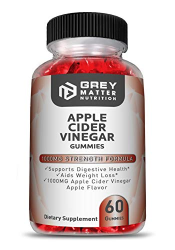 Apple Cider Vinegar Gummies - ACV, Vitamin B12 and Folate - Promotes Digestive Health, Aids Weight Loss, Helps Control Appetite, Supports Natural Detoxification - for Men and Women - 60 Gummies