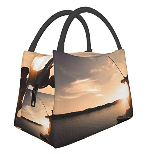 Best Places To Go Fishing In Dc Men Women Boy Girls Portable Insulation Bag Chest Canvas Chest Cotton Bento Cooler Picnic Bag