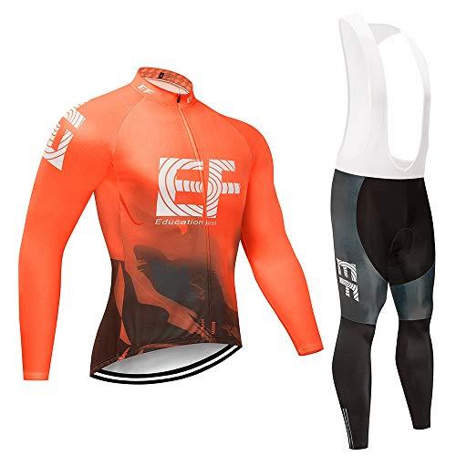 CQXMM Jersey de Hombre Pantalones de Manga Larga Traje de Ciclismo Traje de Deportes al Aire Libre Ropa de Ciclismo