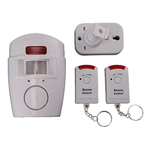 Monifuon Wireless PIR Motion Sensor Alarm With 2 Remote Controllers For Shed Caravan