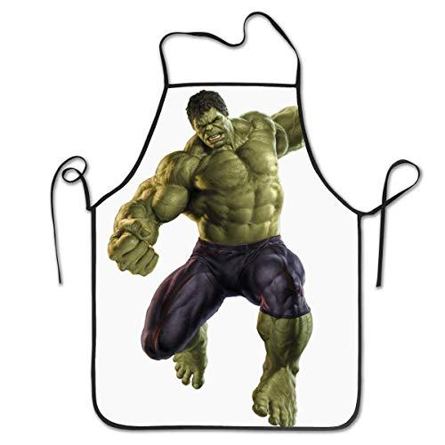 Lawenp Delantales Personalizados Hulk Delantal de Cocina Unisex con Cuello Ajustable para cocinar, Hornear, jardinería, 28 x 21 Pulgadas