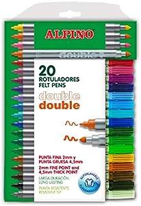 AlpinoAlpino AR000058 - Estuche de 20 rotuladores, colores surtidos