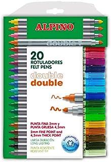 comprar comparacion Alpino AR000058 - Estuche de 20 rotuladores, colores surtidos