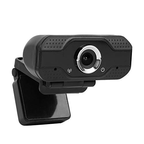 Naroote Schwarze Webcam mit Mikrofon USB 2.0 Plug und Play Live Chat Remote-Webcam für Support-Installation