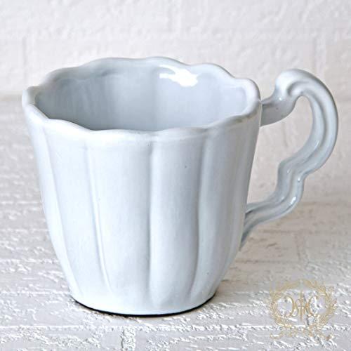 ストライプ ホワイトマグカップ LaCeramicaVBC ceramica セラミカ イタリア食器 ハンドメイド マグカップ