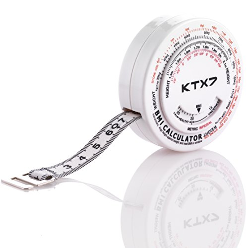 KTX7 BMI-Umfangsmessband Körpermaßband, Weiß, 7,5cm