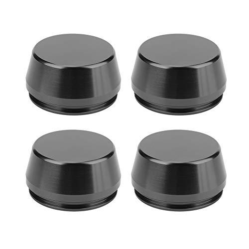 EBTOOLS Tapa de cubo de aleación de aluminio modificada para coche, 4 piezas 56mm/2.2in Cubierta de cubo de tapa de centro de llanta universal(Negro)