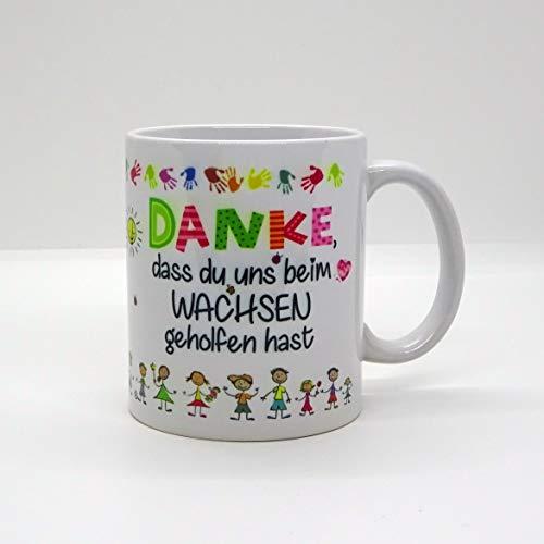 Kaffeebecher ~ Tasse - DANKE, dass du uns beim Wachsen geholfen hast (Figuren)~ Kindergarten ~Weihnachten Geschenk