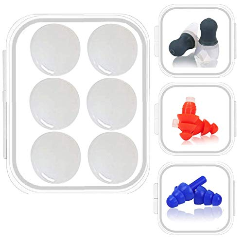 Ear Plugs Silicone Reusable - EarJoy Noise Reduction Waterproof Earplugs for Sleeping, Concerts, Snoring, Pairs with Bonus 32dB Hearing Protection