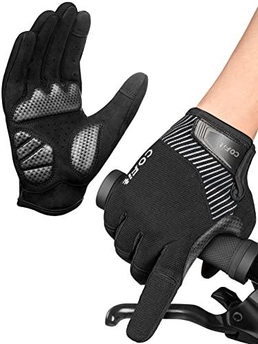 COFIT Anti-Rutsch Fahrrad Handschuhe, Unisex Vollfinger Handschuhe Touchscreen Fahrrad Handschuhe für BMX ATV MTB Radsport, Straßenrennen, Fahrradfahren, Klettern, Bootfahren
