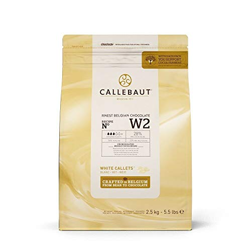 Callebaut W2 28% pepitas de Chocolate Blanco (callets) 2.5kg