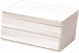 AIRSUNNY 100 CR80 30Mil White Blank PVC Plastic Cards for Photo ID card Printers(DataCard, Zebra, Fargo, Evolis, Magicard, NB)