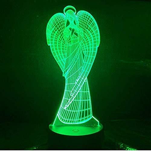Illusion 3D Beste Baby Led Nachtlampje Engel Nachtlampje Voor Kinderen Slaapkamer Slaaplamp Illusie Kind Verjaardagscadeau Led Nachtlampje Engel