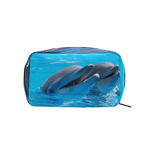 MONTOJ Trousse à maquillage zippée Motif dauphins