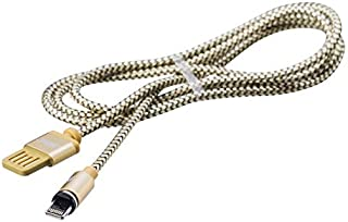 remax rc-095i cravity series USB Data Cable 1m Long for iPhone 5, 6, 7, iPad Air, iPad Mini - Gold