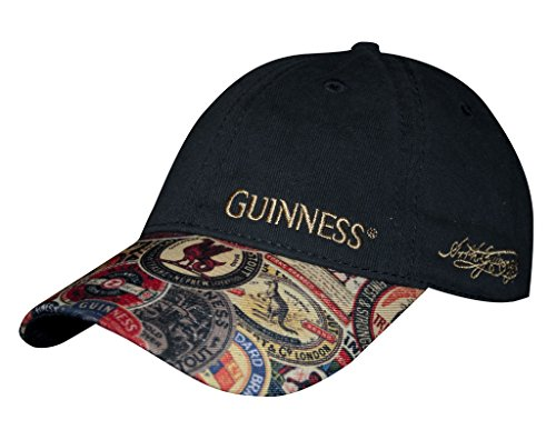 Washed Vintage Label Guinness Black and Cotton Baseball Cap
