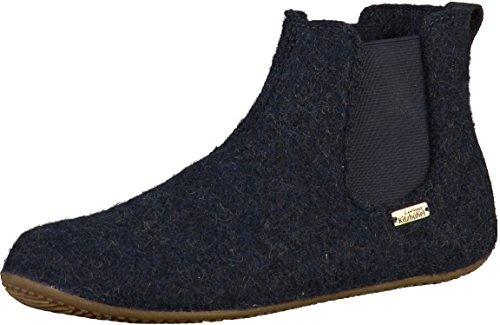 Living Kitzbuhel Herren Chelsea Boots unifarben Hohe Hausschuhe, Blau (Nachtblau 590), 37 EU