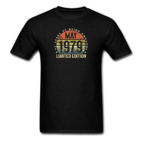 KAYLRR Camiseta genérica Born May 1979 Limited Edition Men