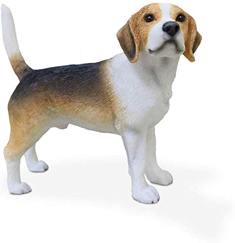 eds-pets 1 Resin Beagle Dog Statue Ornament Simulation Animal Model Home Car Bedroom Office Decoration Crafts Garden House Collectible Figurines Gift DIY Doll House,Beagle