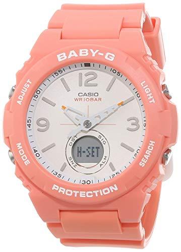 CASIO Damen Analog – Digital Quarz Uhr mit Resin Armband BGA-260-4AER
