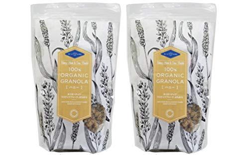 無添加 グラノーラ・ハニー 200g×2個 ★ レターパック赤★ オーガニックのオーツ麦や小麦などをフレークし、蜂蜜やココナッツと混ぜて焼き上げたグラノーラです。