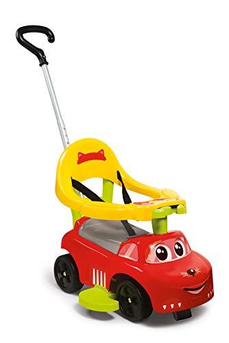 Smoby 720618 Auto Balade Rutscherfahrzeug, für Kinder ab 6 Monaten, Rot, Gelb, Grau, Grüm
