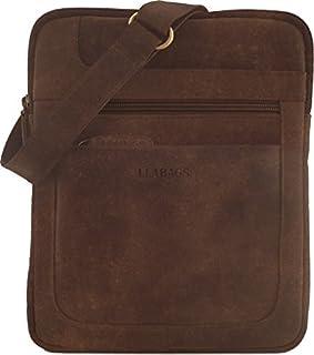 LEABAGS Detroit Leder-Umhängetasche I Kleine Umhängetasche aus echtem Büffel-Leder im Vintage Look I Messenger Bag I Bürot...