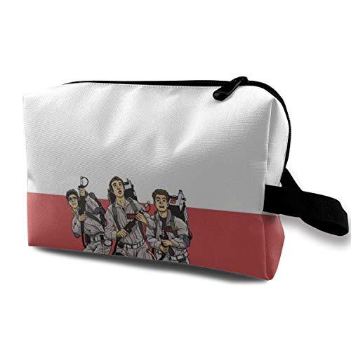 Busters - Bolsa de maquillaje de viaje con muñequera, bolsa de aseo portátil con cremallera para niñas y mujeres