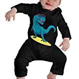 FGRYGF Langarm-Body, Babybekleidung, Baby-Pullover, Infant Baby Bodysuit, Little Surfer Dinosaur Cotton Romper