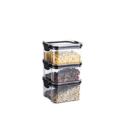 vorratsdosen set,Kunststoff Aufbewahrungsbehälter,Vorratsdosen Kunststoff,Müsli Schüttdose & Frischhaltedosen,Satz mit Etiketten für Getreide,Mehl,Zucker usw. Aufbewahrungsdose,Stapelbare Vorratsdosen