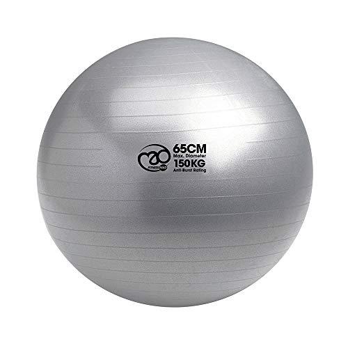 Pilates-Mad FBALL100 Yoga Ejercicio Swiss Fitness Ball, Unisex Adulto, Plata, 65cm