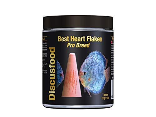 Best Heart Pro Breed Premium Fischfutter, Flockenfutter, Rinderprotein als Flocke, mit Vitaminen und Mineralien, alle Zierfisch, speziell auch für Diskus oder Welse, unterstützt die Fischzucht