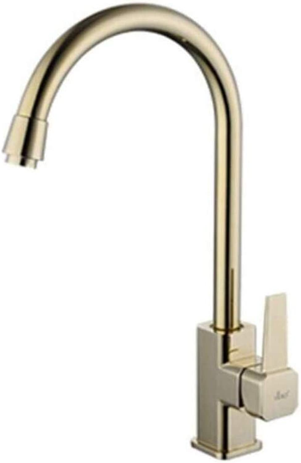 Chrome Kitchen Sink Taptaps Mixer Swivel Faucet Sink Kitchen Can redate The Cold and Hot Water Faucet of Dishwash Basin