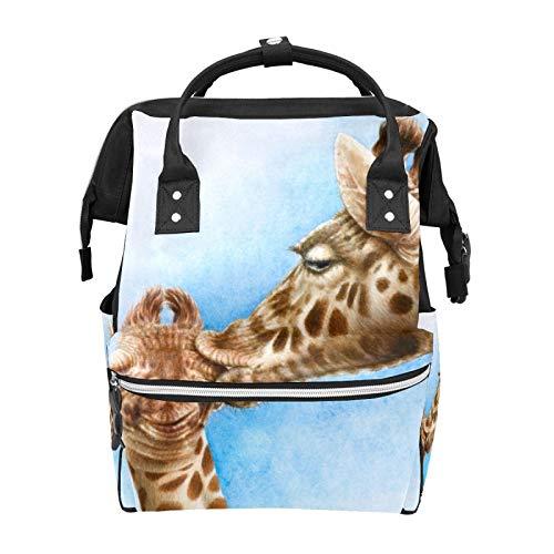 Mochila escolar de jirafa y becerro de gran capacidad para la momia, bolso para portátil, mochila de viaje casual para mujeres, hombres, adultos, adolescentes y niños